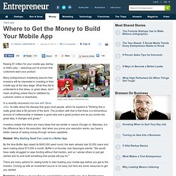 Where to Get the Money to Build Your Mobile App