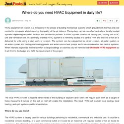 Where do you need HVAC Equipment in daily life?