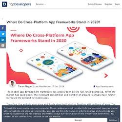 Where Do Cross-Platform App Frameworks Stand in 2020?