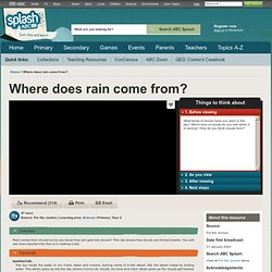 Where does rain come from? - Science (2) - ABC Splash -