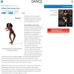 Where Her Secret Lies - Dance Magazine