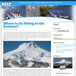 Where to go skiing in summer ?