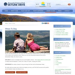 Where To Stay - Visit Skyline Drive