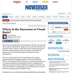Where Is the Successor to Visual Basic?