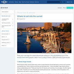 The ultimate sailing trips