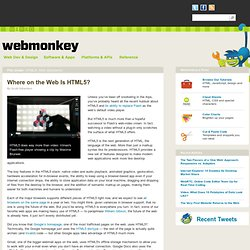 Where on the Web Is HTML5?