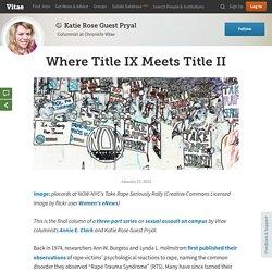 Where Title IX Meets Title II