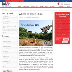 Where to place CCTV