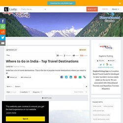 Where to Go in India - Top Travel Destinations