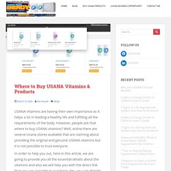 Where to Buy USANA Vitamins & Products in 2020 - USANA Store