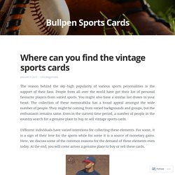 Where can you find the vintage sports cards
