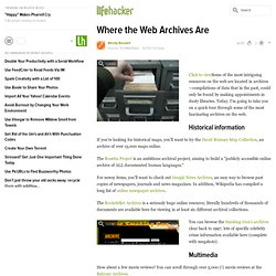 Where the Web Archives Are