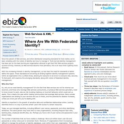 Where Are We With Federated Identity?