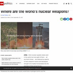 Where are the world's nuclear weapons?