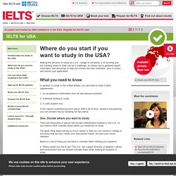 Where do you start if you want to study in the USA?