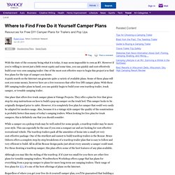 Where to Find Free Do it Yourself Camper Plans