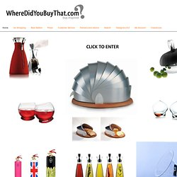 WhereDidYouBuyThat.com ⎜ Eva Solo, Normann Copenhagen, Casa Bugatti, Fatboy the Original, Freshwest, Sonodesign, Black & Blum, Ovetto