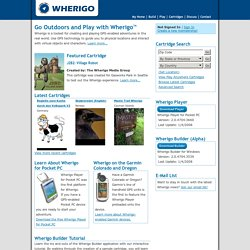 Wherigo > Tools for creating GPS-enabled adventures