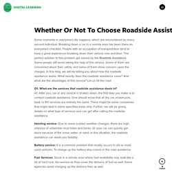 Roadside Assistance Services By Roadside Response
