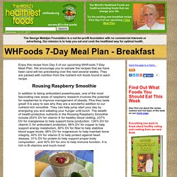 WHFoods 7-Day Meal Plan - Breakfast