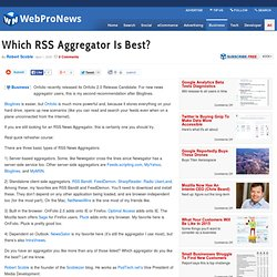 Which RSS Aggregator Is Best?