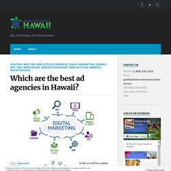 Which are the best ad agencies in Hawaii?