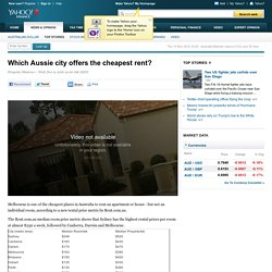Which Aussie city offers the cheapest rent?