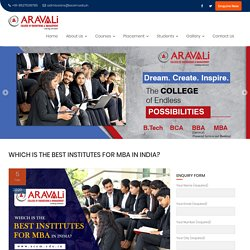 Which Is The Best Institutes For MBA In India 2020?