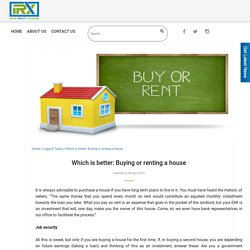 Which is better: Buying or renting a house