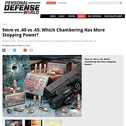 9mm vs .40 vs .45: Which Chambering Has More Stopping Power?