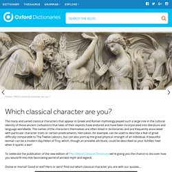 Which classical character are you?