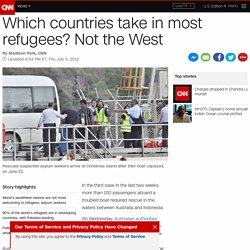 Which countries take in most refugees? Not the West