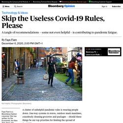 Which Covid-19 Rules Are Useless? Too Many of Them