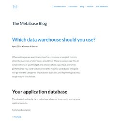 Which data warehouse should you use?