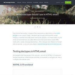 Which doctype should I use in HTML email?