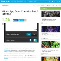 Which App Does Checkins Best? [STUDY]