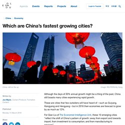 Which are China's fastest growing cities?