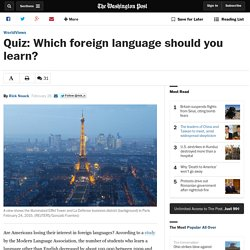 Quiz: Which foreign language should you learn?