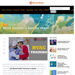 Which institute is best for HVAC?