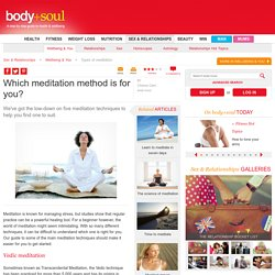 Which meditation method is for you?