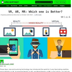 VR, AR, MR: Which one is Better?