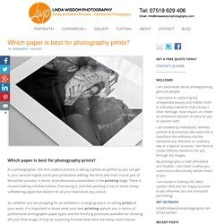Which paper is best for photography prints