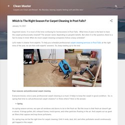 Which Is The Right Season For Carpet Cleaning In Post Falls?