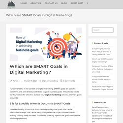 Which are SMART Goals in Digital Marketing? - DiggiWeb