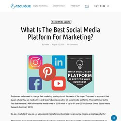 Which Social Media Platform Is The Best For Your Brand?