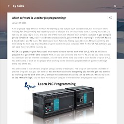 which software is used for plc programming?