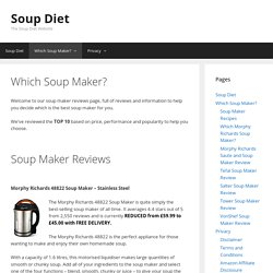 Which Soup Maker? - Soup-Diet.co.uk