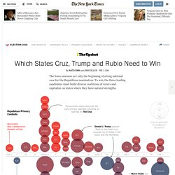Which States Cruz, Trump and Rubio Need to Win