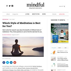 Which Style of Meditation is Best for You?