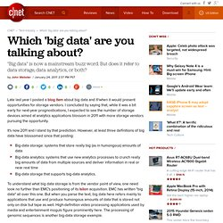 Which 'big data' are you talking about? | Data-driven
